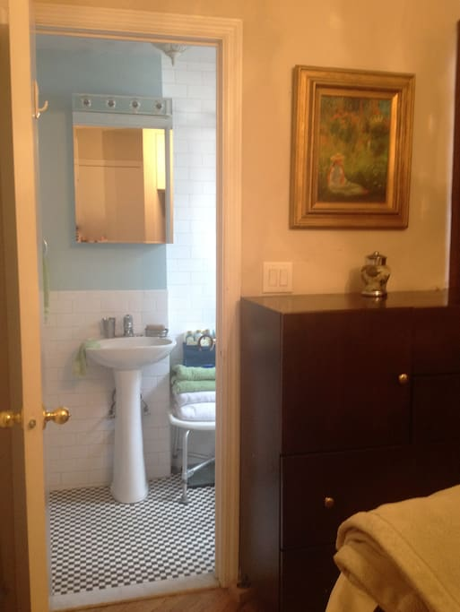 Picture of the bathroom from the bedroom