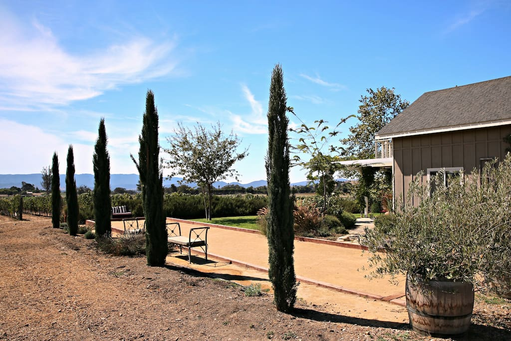 Guests' private bocce ball court.