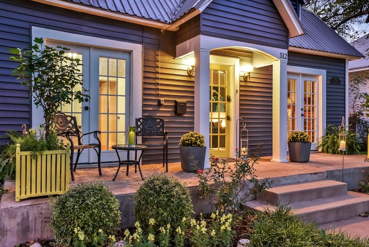 Relax on the front porch or open up the french doors for fresh air.
