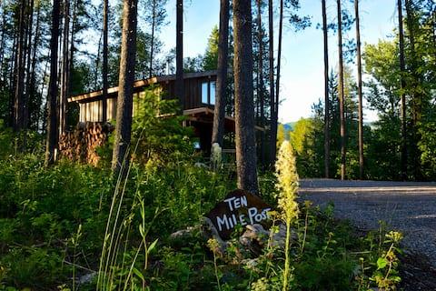 Ten Mile Post — Backdoor to GNP on North Fork Road