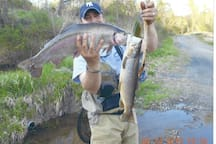 Best trout fishing on our private river-front property (5 min away)