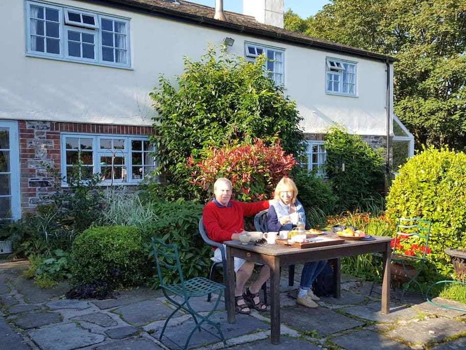 In summer you may like breakfast outside - with the lovely garden view