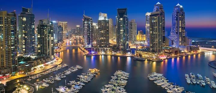 2BD| heart of Dubai | 40th Floor Balcony |Sea View