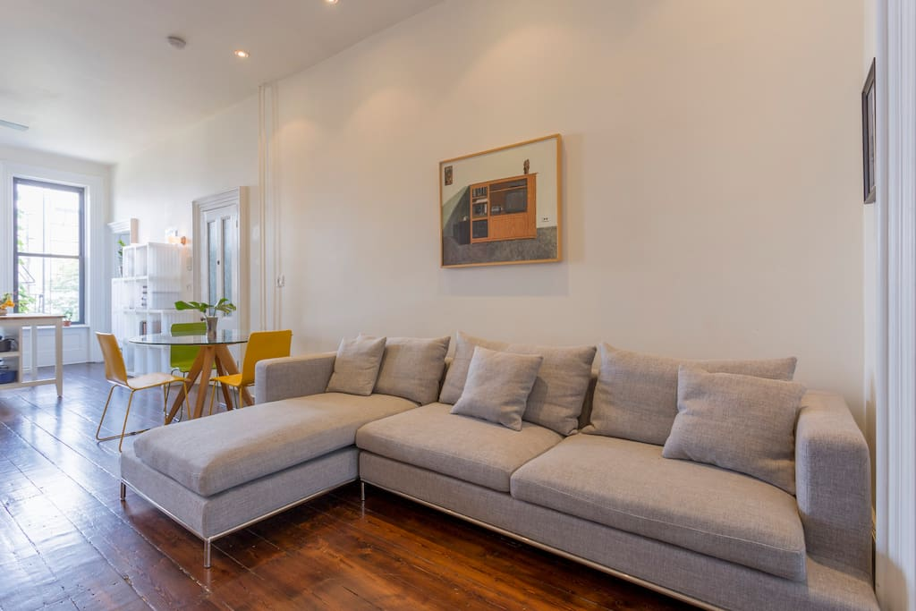Living room with sectional sofa