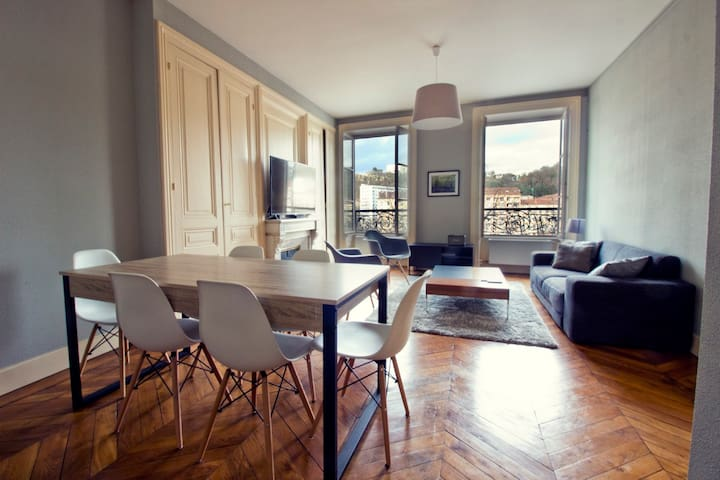 Spacious apartment with view on the river - Lyon - Lyon - Apartemen