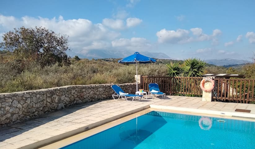 The pool is for your exclusive use. It is 7mx5m and 1.6m deep, with steps to a 0.6m shallow end. Pool loungers are provided.