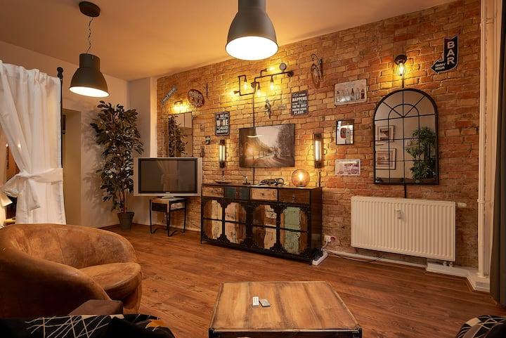 Stylish, cozy loft apartment, designer furnishing