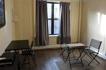 Private Dining Area and Desk inside spacious Bedroom.  No need to share with a bunch of roommates.