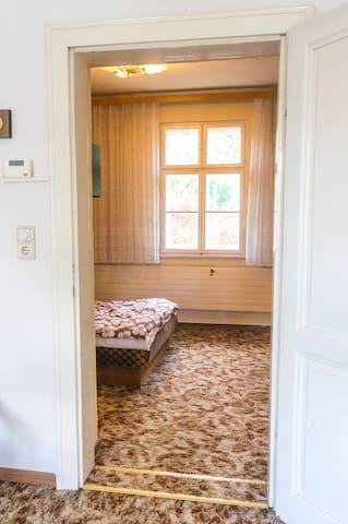 Blick ins Schlafzimmer