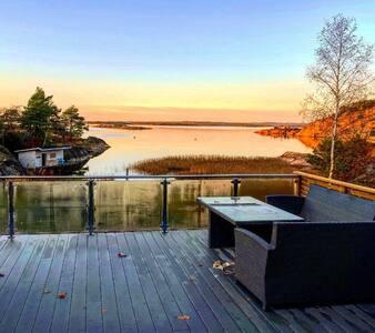 Stor hytte med unik beliggenhet på Kirkøy, Hvaler