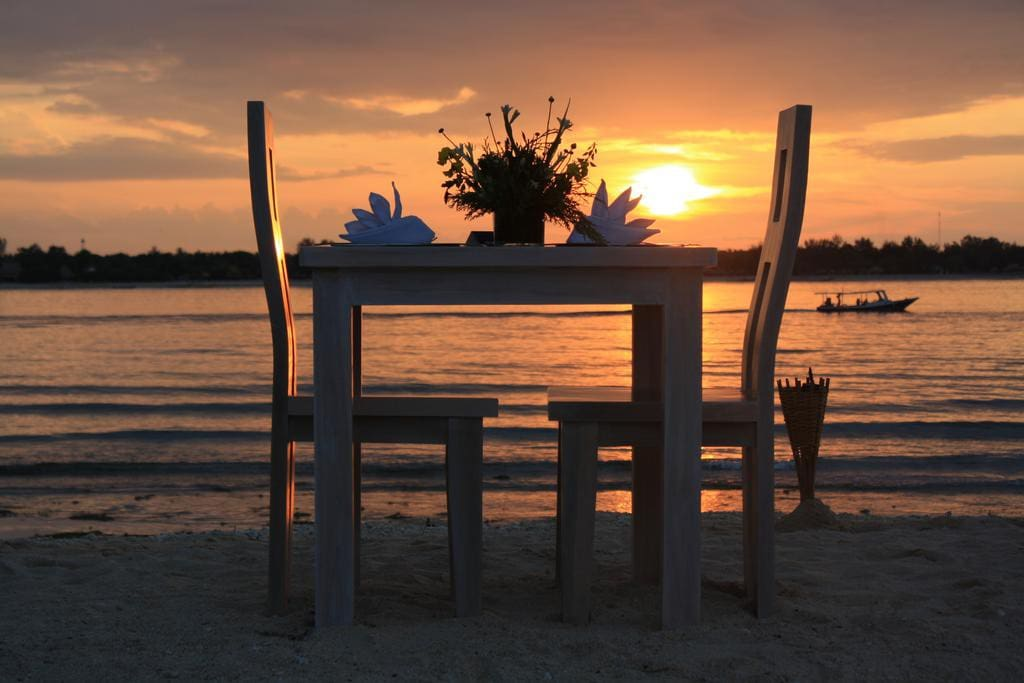 Sunset In Front Of Our Beach