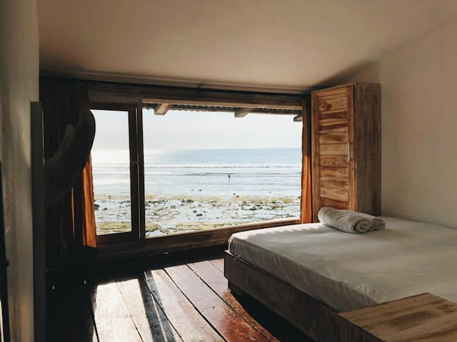 Beachfront Guesthouse Room 3 with Sunset view