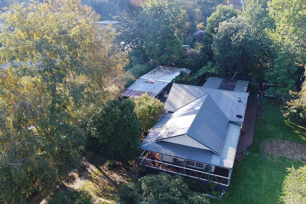 Drone shot of the property