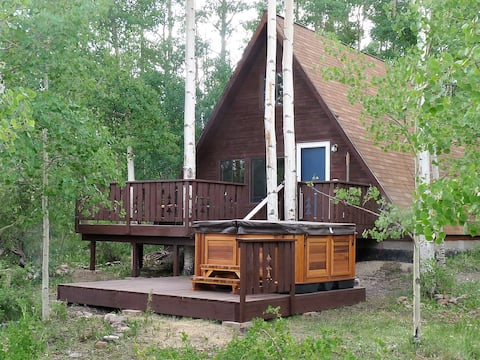 1 BR Hideaway Cabin w/ Hot Tub in the Aspens