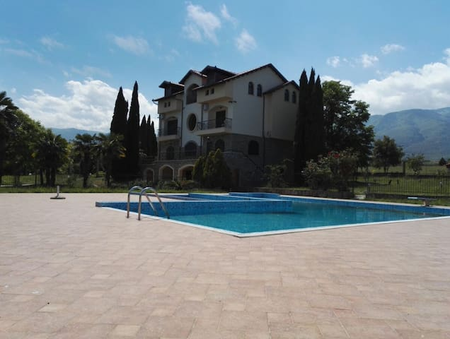 Private Villa 18 people 8 bedrooms 2 kitch 4baths - Лептокария - 別荘