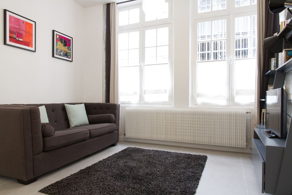 Flat 1: The bright and cosy living area