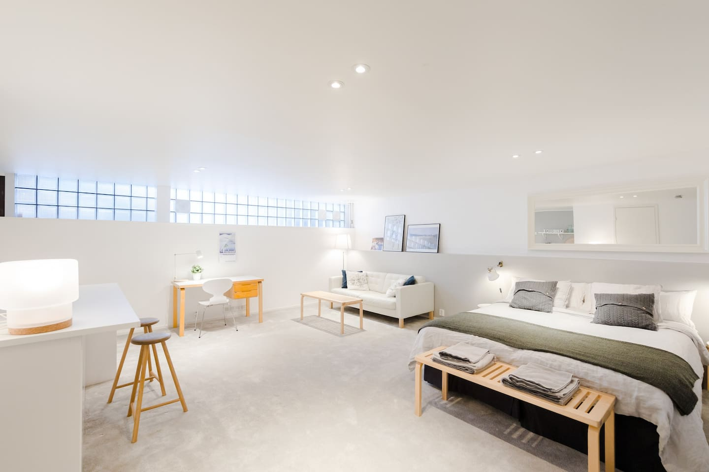 We have renovated our basement guest suite in 2017 to accomodate airbnb guests. Free wifi is included