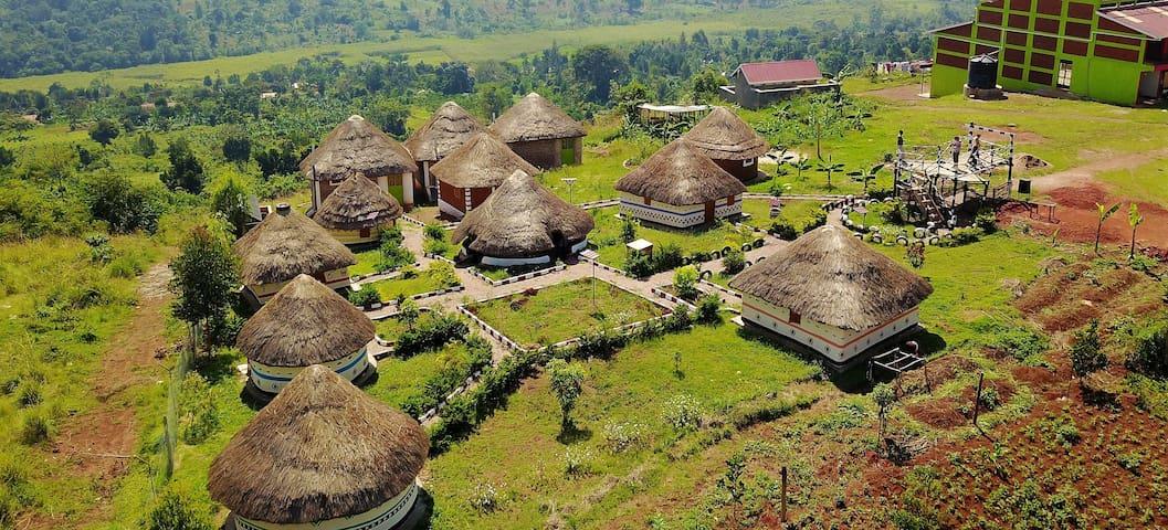Real Traditional Ugandan Mud Hut