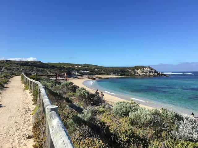 Walk and bike track along the beach between White Elephant Cafe to Surfers Point 4.5k walk return to Beach Charm.