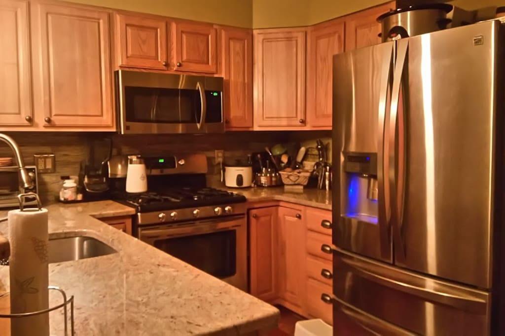 Cozy kitchen with modern appliances