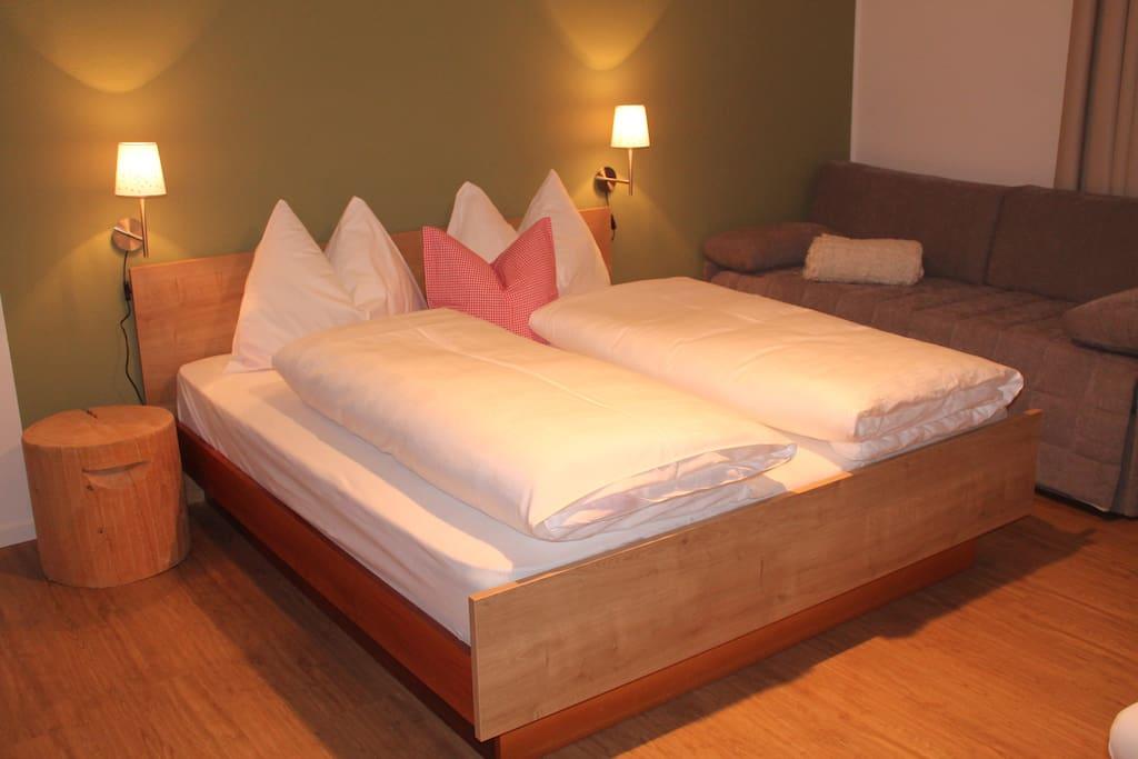 Sogni doro-camera da letto appartemento B/Doppelbettzimmer vom Appartment B - schöne Träume