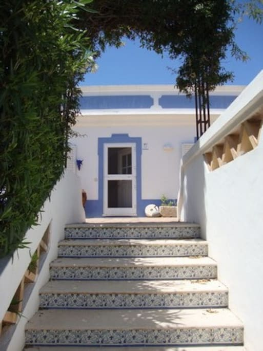 escada acesso entrada casa
