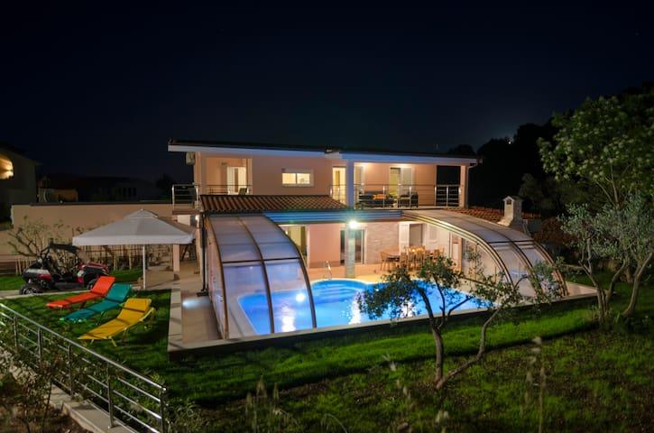 Villa at the night