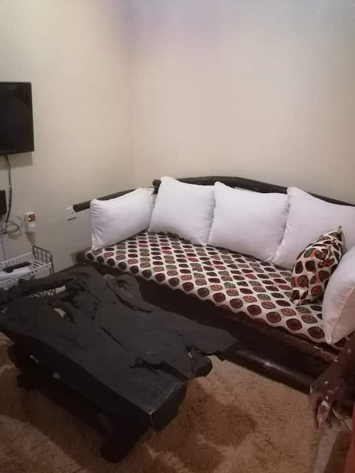 Serviced studio in Nairobi Kenya.Cool place.