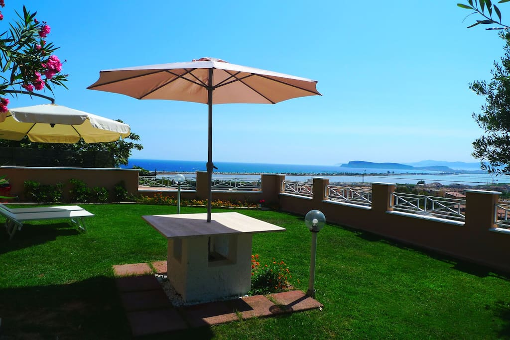 Amazing panoramic view on whole city and beachfront from your private garden.
