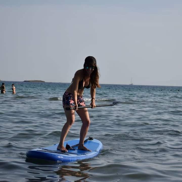 wave stance paddling!