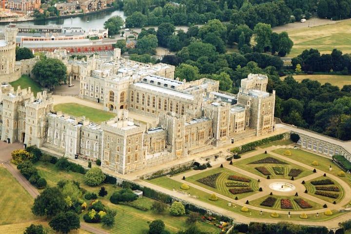 Stunning views overlooking Windsor Castle
