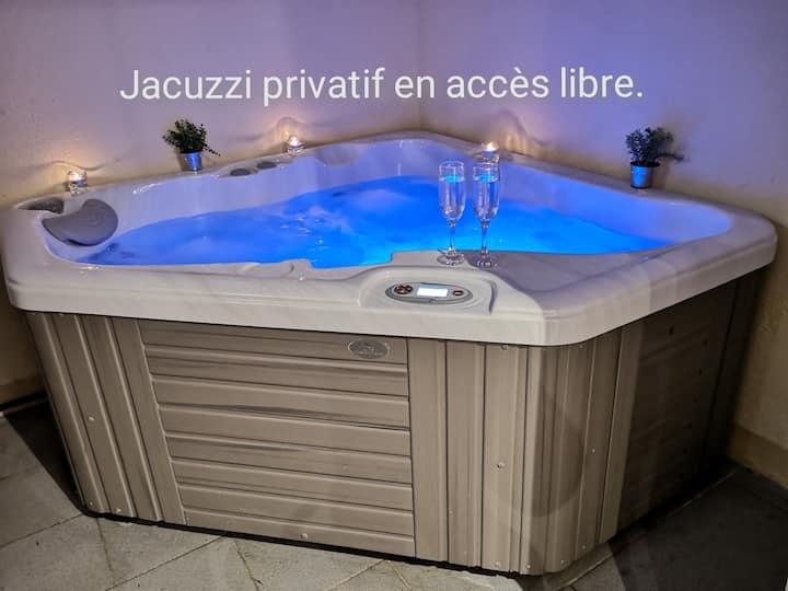 Appartement spa privé pour séjour seul ou à deux.