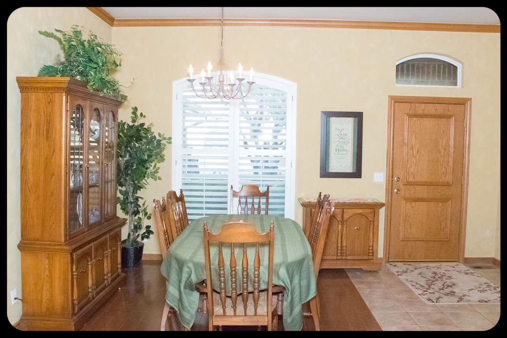 Dining room and Entryway.