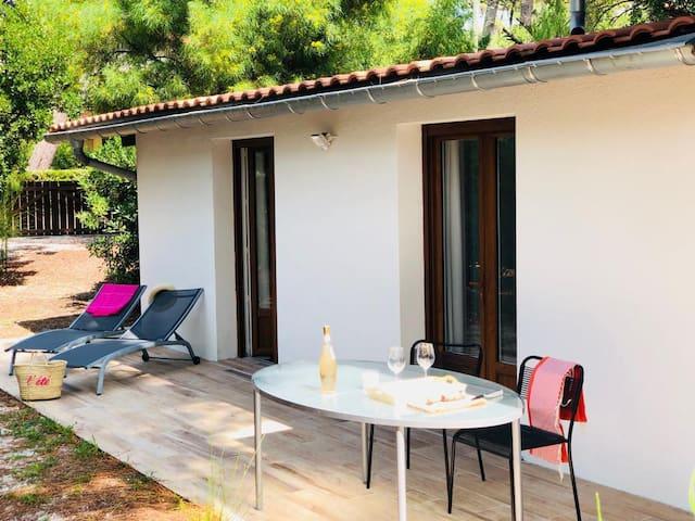 Maison Cap Ferret Bélisaire 2 ch 1400 m2 de jardin