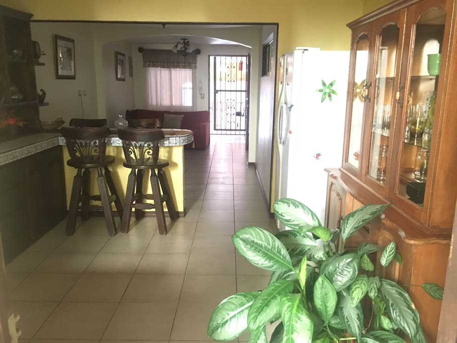 View From Kitchen to Front Entrance