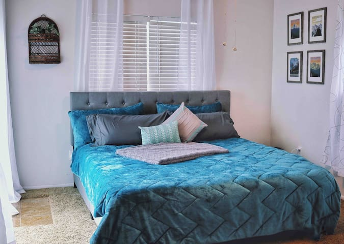 Master Bedroom with King Bed and attached full bathroom