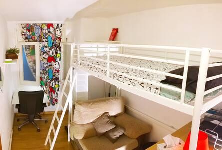 PPrivate room & breakfast in Sants near España Sq. - Barcelona