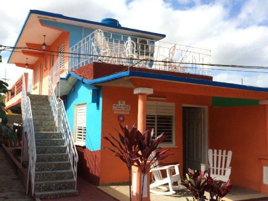 Villa Feliz´s front house.