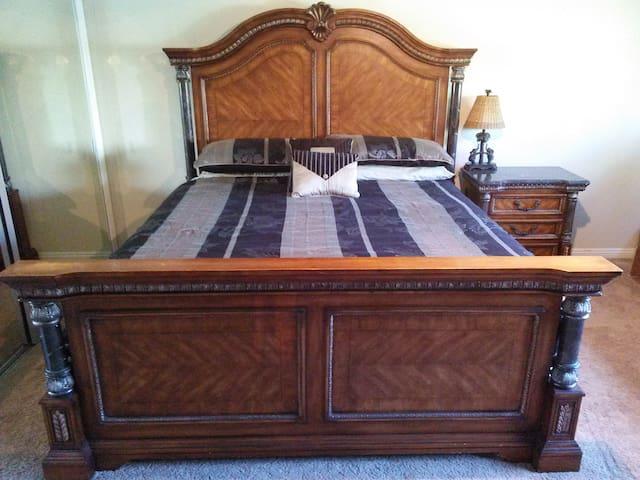 Bedroom #1, Eastern King Bed