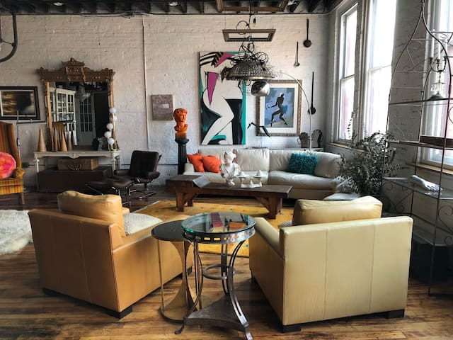 "Industrial Glam Loft ""The Classico Room"""