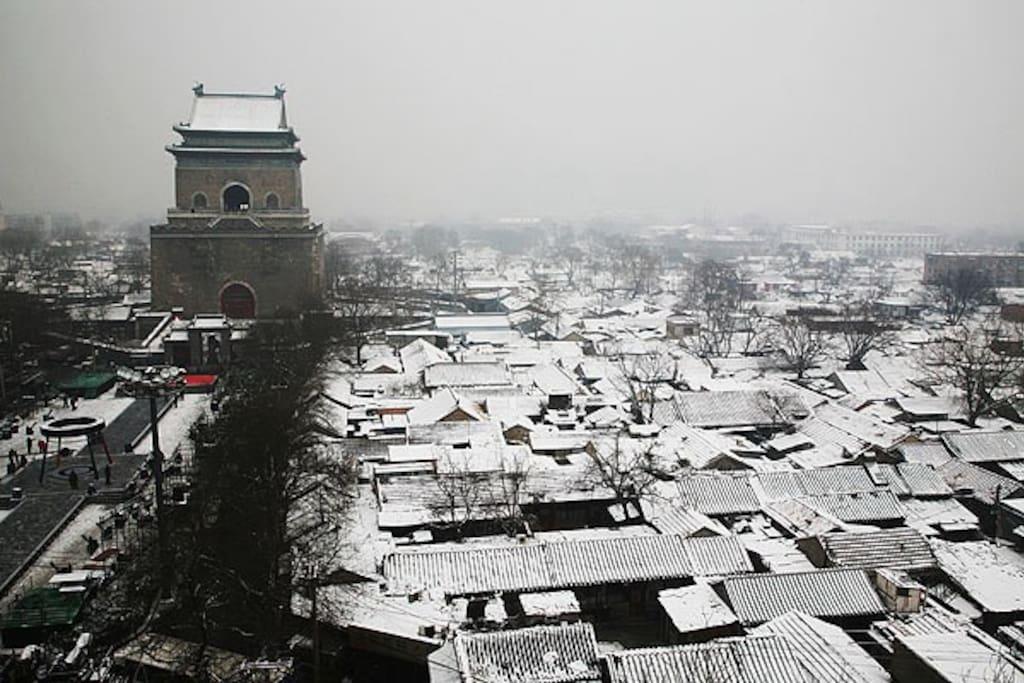 冬天雪后,老城又恢复北平的模样
