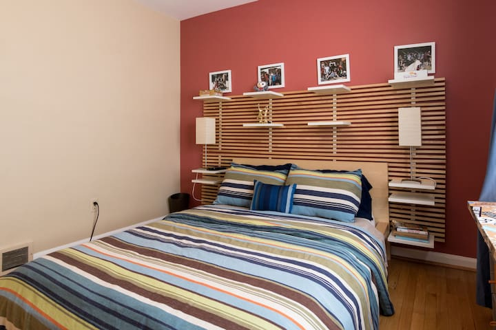 Cozy Bedroom: Flat Screen TV, Full Size Platform Bed