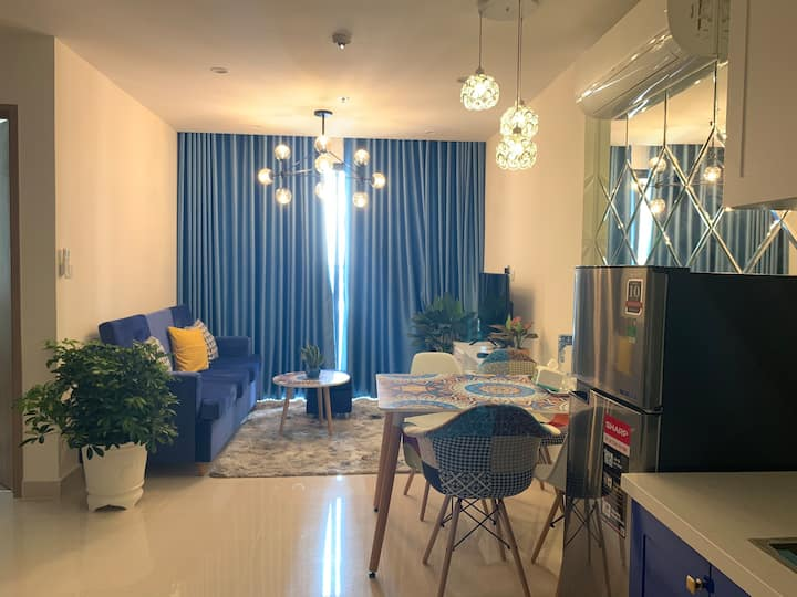 VinhomesD9/2BR*Homestay&cozy.Full furnished&BBQout