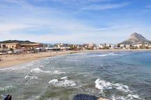 Playa del Arenal a 400 metros del aparatamento