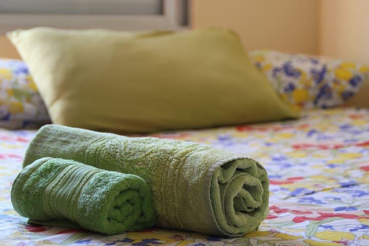 Quarto cama de casal simples e gostoso em Floripa - Florianópolis - Apartment