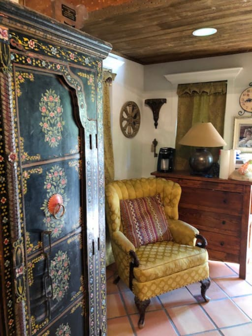 Main Cottage armoire with sink refrigerator