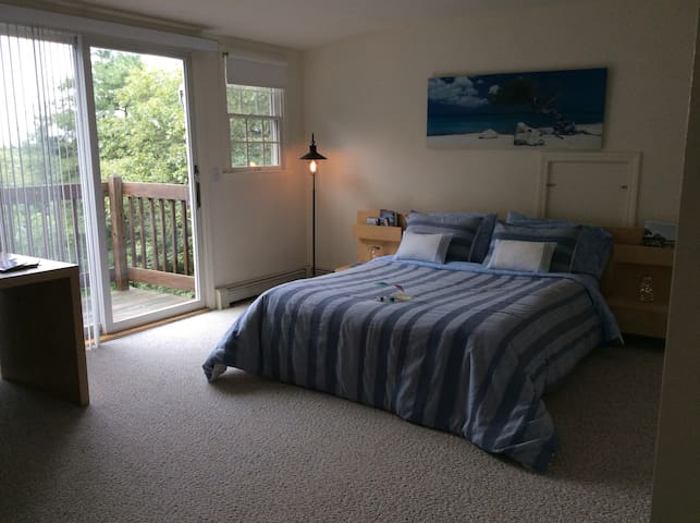 Large airy room with balcony and private bath