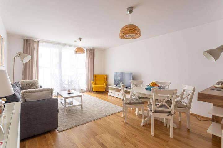 Beautiful new Apartment near Danube River 83,65m²