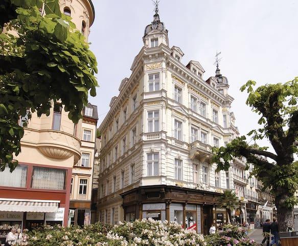 Jen několik kroků od Vřídelní kolon - Karlovy Vary - Huis
