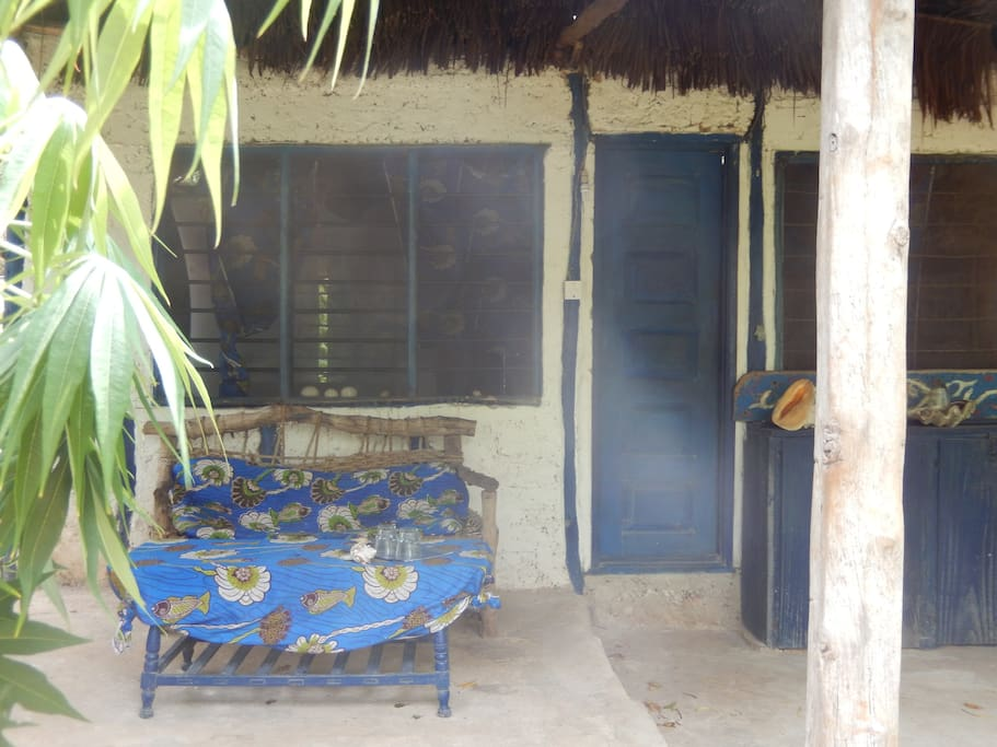 Partial View of the Terrace with Sea View - Blue Monkey Beach Cottage for 3